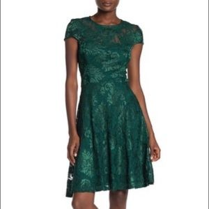 Super cute lace fit and flare dress